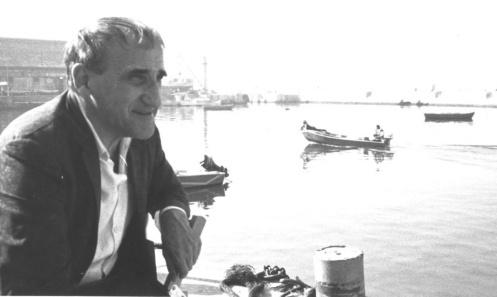 Tadeusz Kantor w porcie rybackim Yaffo